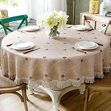 LIUJUAN Tablecloth Large Round Tablecloth Cotton