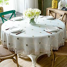 LIUJUAN Tablecloth Large Round Tablecloth Cotton