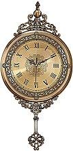 LIULIFE Furniture Decoration Clock,Silent Round
