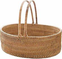 LiuliuBull Rattan Hand Basket Picnic Basket Living