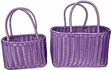 LiuliuBull S/L Size Basket Hand Made Wicker Bags