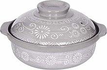 LIUSHI Casserole Pot Terracotta Stew Pot Ceramic