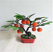 liushop Artificial Potted Plants Artificial Orange