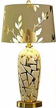 liushop Bedside Table Lamp Ceramic Table Lamp Gold