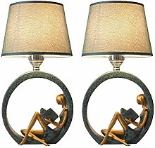 liushop Bedside Table Lamp Modern Table Lamp Set