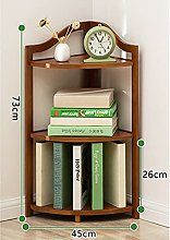 liushop Bookcase Bookshelf Corner Bookcase Floor