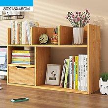 liushop Bookcase Simple Bookshelf Desk Shelf