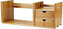 liushop Bookcase Tabletop Bookcase Extendable Desk