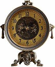 liushop Desk Clock Creative Retro American Clock