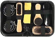 LIUSHUI Shoe Shine Care Kit Black & Neutral Polish