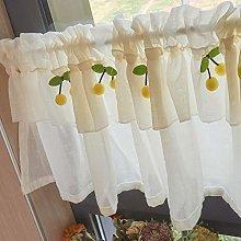 LIUU Kitchen Curtain Valances Cotton Linen Voile