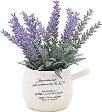 LIUYU Artificial Plants Bonsai Lavender Pot Plants