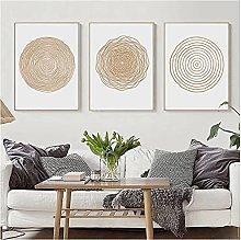 LIUYUEKAI Abstract Geometric Circle Wall Art