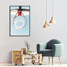LIUYUEKAI Basketball Hoop Wall Art Picture Canvas