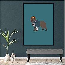 LIUYUEKAI Brimstone Dog Canvas Wall Art Print