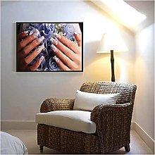 LIUYUEKAI Fashion Nail Wall Art Picture Canvas