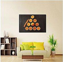 LIUYUEKAI Fruit Orange Canvas Wall Art Print