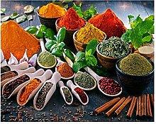 LIUYUEKAI Kitchen Spices Canvas Wall Art Print