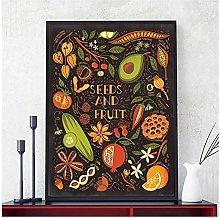 LIUYUEKAI Seed And Fruit Canvas Wall Art Print