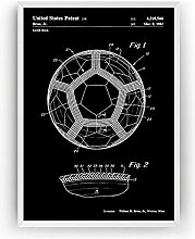 LIUYUEKAI Vintage Style Soccer Ball 1982 Patent