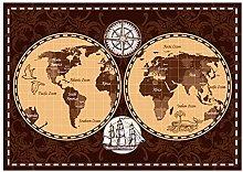 LIUYUEKAI Vintage World Map Atlas Geography Wall