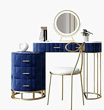 Liuzecai Makeup Table Blue Dressing Table With