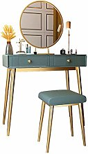 Liuzecai Makeup Table Green Dressing Table Bedroom