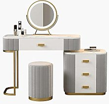 Liuzecai Makeup Table Grey Dressing Table With