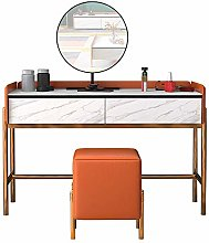 Liuzecai Makeup Table Orange Dressing Table With