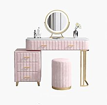 Liuzecai Makeup Table Pink Dressing Table With