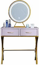 Liuzecai Makeup Table Purple Dressing Table With