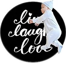 Live Laugh Love , Printed Round Rug for Kids
