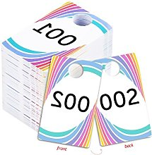 Live Sale Plastic Tags, Normal and Reverse Mirror