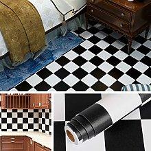 Livelynine 40CM X 5M Design Black and White