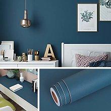 Livelynine 40CM X 5M Navy Wallpaper for Bedroom
