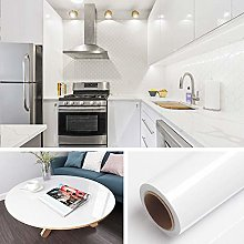 Livelynine 40CMx10M Gloss White Contact Paper