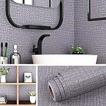 Livelynine 40CMx10M Grey Wallpaper for Bedroom