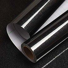 Livelynine 40CMx5M Gloss Black Wallpaper Self