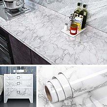 Livelynine 40CMx5M Grey Wallpaper for Kitchen