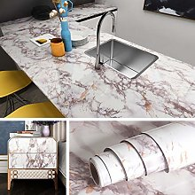 Livelynine 40CMx5M Marble Contact Paper Self