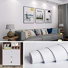 Livelynine 40CMx5M Plain White Wallpaper Peel and