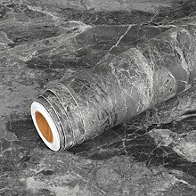 Livelynine Charcoal Concrete Wallpaper Peel and