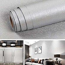 Livelynine Grey Wallpaper for Bedroom Walls Silk