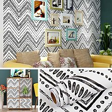 Livelynine Peel and Stick Wallpaper Black and