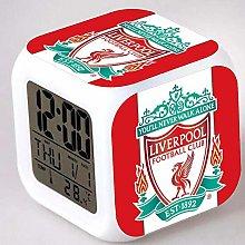 Liverpool Football Club 7 Colors LED Alarm Clock,