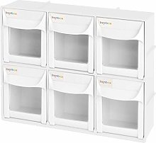 "livinbox 6 Drawers Storage Box, 12"" Tip Out"