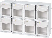"livinbox 8 Drawers Storage Box, 12"" Tip Out"