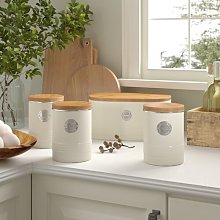 Living 4 Piece Kitchen Canister Set Typhoon