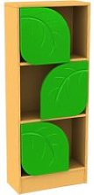 Living Planet Tall Bookcase With Leaf Feature Doors