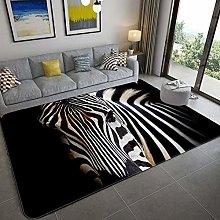 Living Room Carpet,Creative 3D Gray Cartoon Wolf